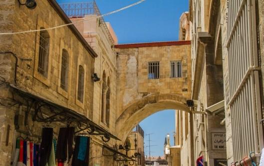 Arco de Ecce home, resquício da fortaleza Antônia, onde Jesus foi condenado no caminho da Via Dolorosa